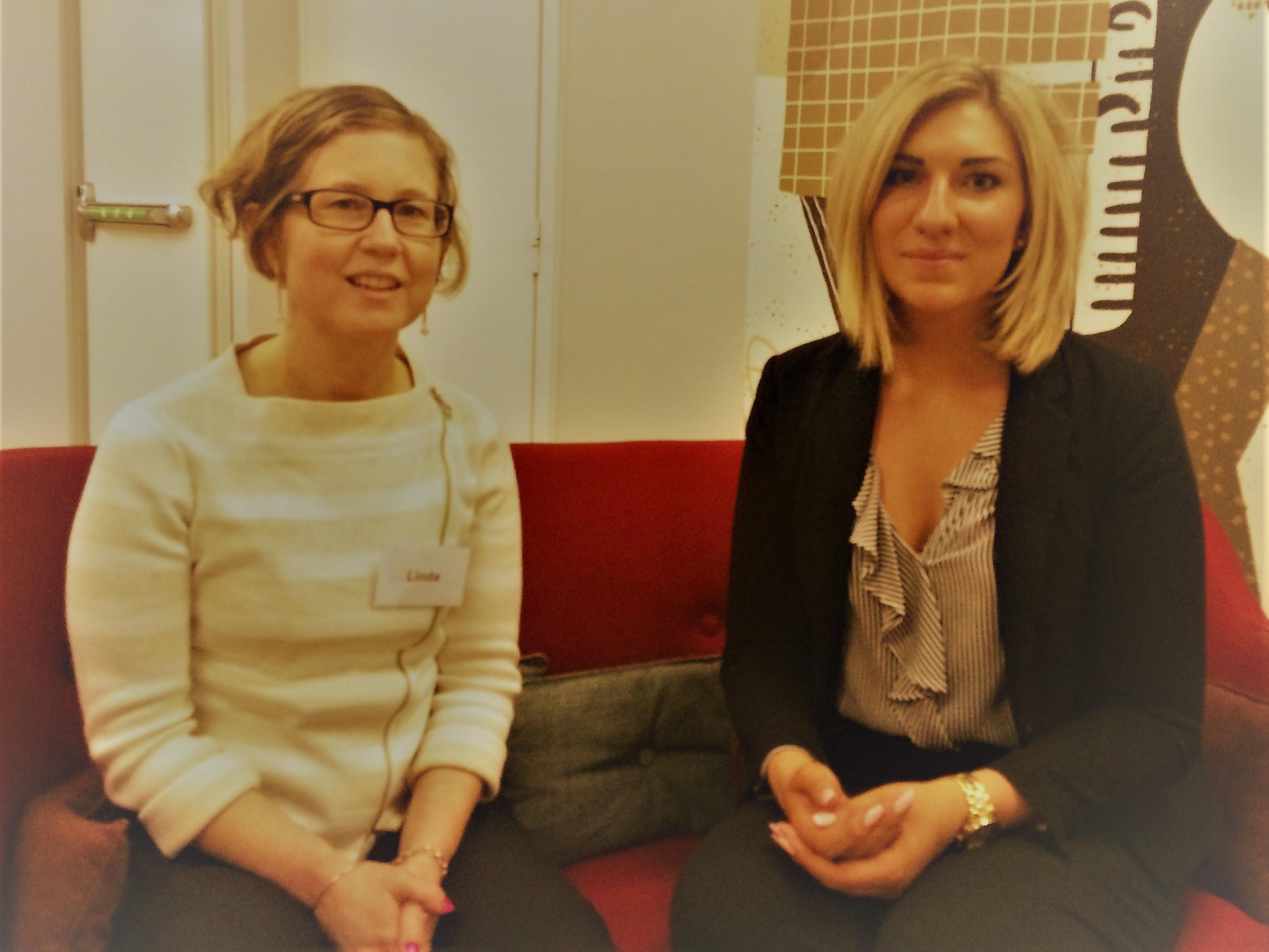 Linnéa Kempe och Linda Dahlqivst