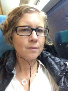 Linda D på tåg
